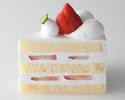 ストロベリーショートケーキ1ピース ¥650(税抜)
