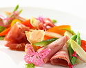 【SEASONLunch】季節野菜の前菜とメインが選べる全4品プリフィックスランチ(土日祝)
