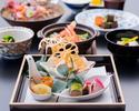 信州の根菜と海の幸の特別会席