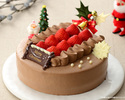優待価格 いちごのクリスマスチョコクリーム15cm¥3,600
