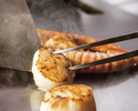 ★【お手軽宴席】90分飲み放題付き<葵コース>牛ロース肉と魚介の鉄板焼きコース