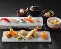 【寿司カウンターで楽しむ】1・2月おすすめ~天ぷら&寿司ランチ~
