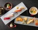 【天ぷらカウンターで楽しむ】1・2月 天婦羅&寿司ランチコース