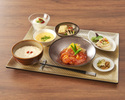 【食後のコーヒー付き!】海鮮orお肉から選べるメイン☆身体に優しい豆乳粥とご飯がおかわり自由