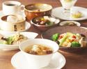 【パンダ月餅のお土産付き!】更に1ドリンクが付いて薬膳スープと熱菜二品に豆乳粥、ご飯が選べるお得ランチ!