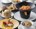 【パンダ月餅のお土産付き!】ふかひれスープとエビチリのチーズフォンデュ風火鍋をメインとした1ドリンク付きのお得なミニコース全6品!