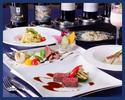 【ディナー・2時間飲み放題付き】ワイン好きのお客様への接待にもおすすめの飲み放題と2種の前菜・パスタ・メイン・デザートなどを含む6品ディナープラン