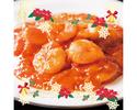 【クリスマス2019】Aコース 乾杯1ドリンクとデザートプレート付!牛肉とイカの豆鼓炒め/エビのチリソース 全7品