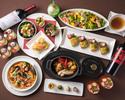 7品のお料理とフリードリンクのついたウインタースペシャルディナー