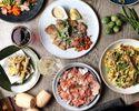 【1月、2月限定!】こぼれ生ハムや当店人気の市場直送鮮魚を使ったカルパッチョ、優味豚のカツレツなど、シェフが食材や調理法をこだわったボリュームたっぷり豪華8品のNOWADAYSプラン ¥3800