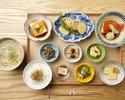 ■ HP-limited plan ■ Nine kinds of obanzai plate with pork shabu small hot pot