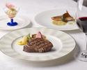 【Anniversary×窓際席確約】乾杯スパークリングワイン&記念日ケーキ!お肉・お魚料理Wメイン含む全6品