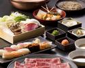 All-you-can-eat Black Wagyu Beef Shabu Shabu and Sushi