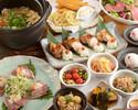 【名物コース】豆ちゃの名物ふわふわたまご、京もち豚の朴葉焼きと鯛の土鍋ご飯コース【2h飲み放題】