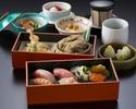 【寿司御膳×選べる乾杯酒付】天ぷら・そば・にぎり寿司などの贅沢ランチ!ホテル高層階で優雅なひとときを