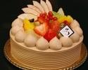 フルーツデコレーションケーキ(チョコクリーム)15cm