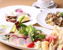 【10月平日WEB予約限定】前菜やサラダを盛合せた特製アンティパストプレート・パスタ・デザート盛合せに食後のカフェ付