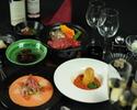◆月~木限定価格6480円⇨5980円◆ お肉料理のフルコース 全7品+2.5H飲み放題付き