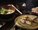 鶏焼コース(スライスしたお肉を皆様で焼いて頂くコースです。)