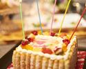 【お料理のみでお得♪】フォトケーキ&お花付★世界に一つだけのAnniversary Plan