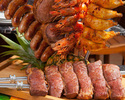 [10/1 ~ reservation] [Weekday lunch Churrasco] 10 types Churrasco, Brazilian cuisine about 30 types