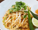 【TAKEOUT】パッタイ ライスヌードル ライム チリ(1人前) Pad Thai with peanuts