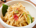 【TAKEOUT】ソムタム グリーンパパイヤサラダ Green papaya salad, dried shrimp, peanut