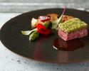 【日本の夏メニュー】お肉料理は贅沢和牛ロース肉のグリエ!アミューズ、冷前菜、温前菜、Wメイン、デザート 豪華フルコース全6皿