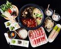【2時間食べ放題】3280円火鍋コース|豪州ラム/豚ロース/野菜11種など美食と薬膳スープ♪全8品