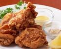【テイクアウト】鶏の唐揚げ ごま塩とレモン添え(3ヶ)