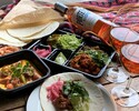 [BOTTLE ROSE WINE & FOOD SET] ROSÉ WINE + QUESO FUNDIDO WITH SAUSAGE + TACOS KIT