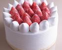 【デリバリー】5号(15cm)ストロベリーショートケーキ ¥4,200(税抜)