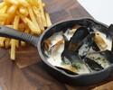 【テイクアウト】ムール貝のクリーム煮 ポテトフライ添え