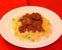 Fried rice with beef and ginger