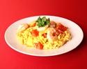 Fried shrimp and tomato egg