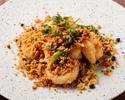 Fried seafood garlic spice
