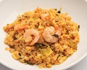 Fried rice with shrimp and high vegetables