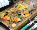 季節のお魚のフリット 瀬戸内レモンのソース