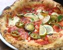 ハラペーニョとチョリソーのピッツァ