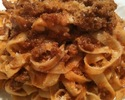 """【TAKEOUT】タリァテッレ ボロニェーゼソース""""Tagliatelle Bolognese"""" Pasta with Meat Sauce"""