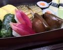 【テイクアウト・阪急グランドビル店 28階】土佐田舎寿司盛合せ。旬の食材を使用した司オリジナル