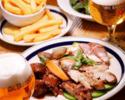 ワンドリンク付き!【北海道産熟成三元豚と大山鶏もものグリルなど飲み会に最適なコース】