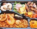 【ランチ限定】パエリアとお肉盛りの弁当