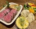 【デリバリー】予約限定!シャロレー牛のステーキランチセット