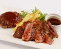 ④ステーキ&ハンバーグ弁当