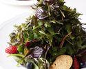 【土祝】ハーブサラダ・選べるパスタ・選べるメイン・デザート+お茶