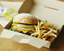 <Delivery>【Grilled Beef Burger (including french fries)】BBQ🍔🍟