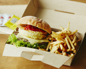 <Takeout・BEBU>【Grilled Beef Burger (including french fries)】THE BIG ONION 🍔🍟