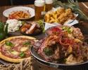 【ディナー・星空テラスビアガーデンプラン】ローストビーフや牛ハラミステーキのお肉3種類食べ放題とカルパッチョ&前菜盛り合わせが楽しめるプレミアムビアプラン¥4,480(税込)
