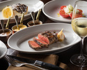 【Online Special Dinner Course with 2 Drinks!】Enjoy 8 dishes course including sirloin steak and fish for main!